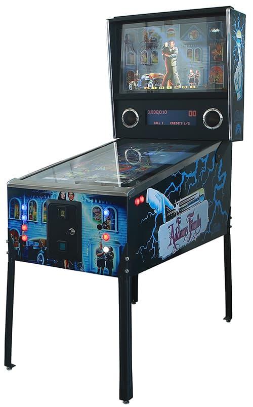 Virtual Pinball Machine with Adam's Family graphics