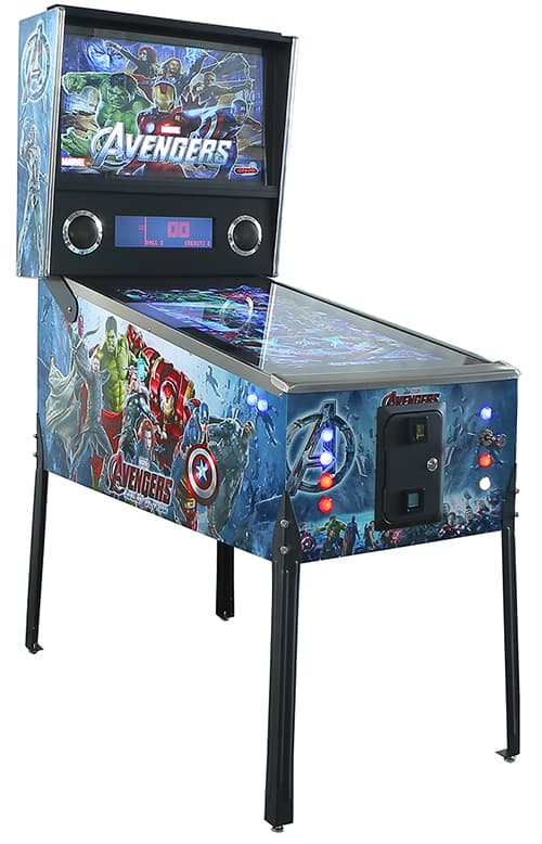 Virtual Pinball Machine with avengers graphics