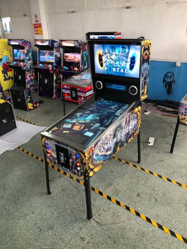 Virtual Pinball Machine with game of thrones graphics