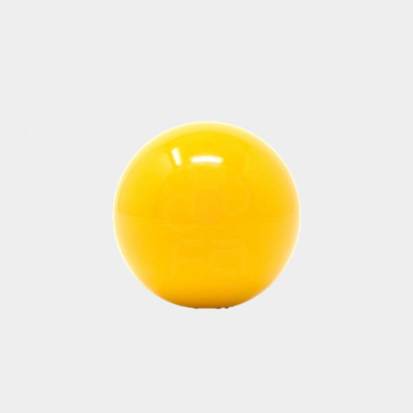 yellow arcade joystick top