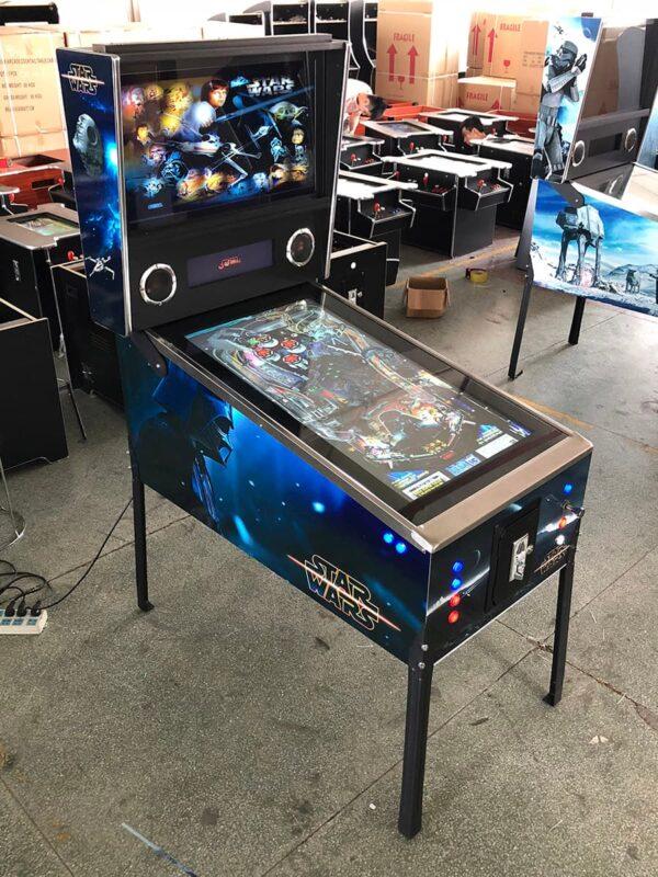 Virtual Pinball Machine with star wars graphics