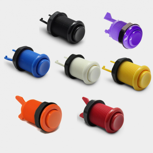 Solid color arcade cabinet button options