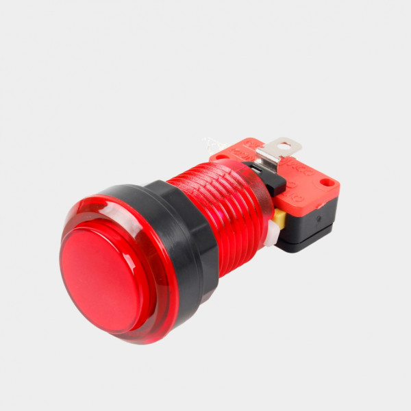 red LED arcade cabinet button