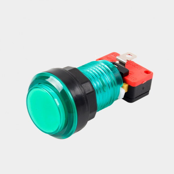 green LED arcade cabinet button