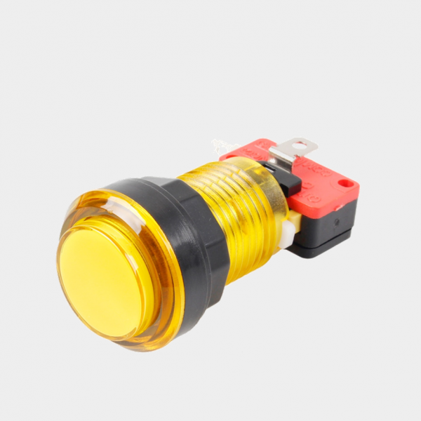 yellow LED arcade cabinet button