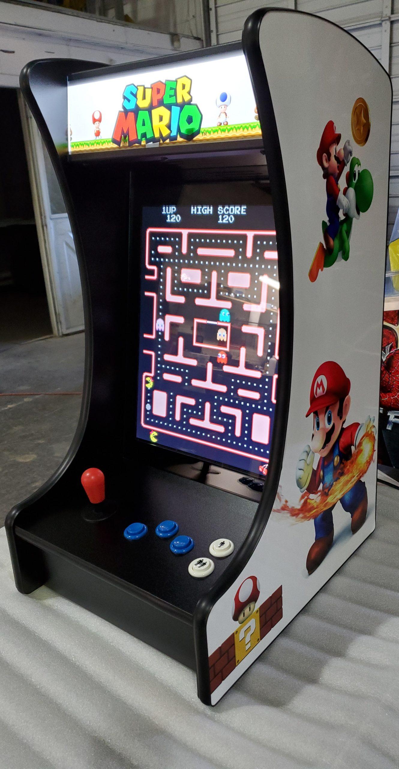 Multiple game countertop arcade