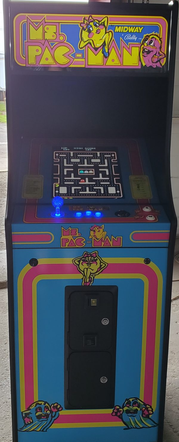 Upright multicade with ms pacman wrap