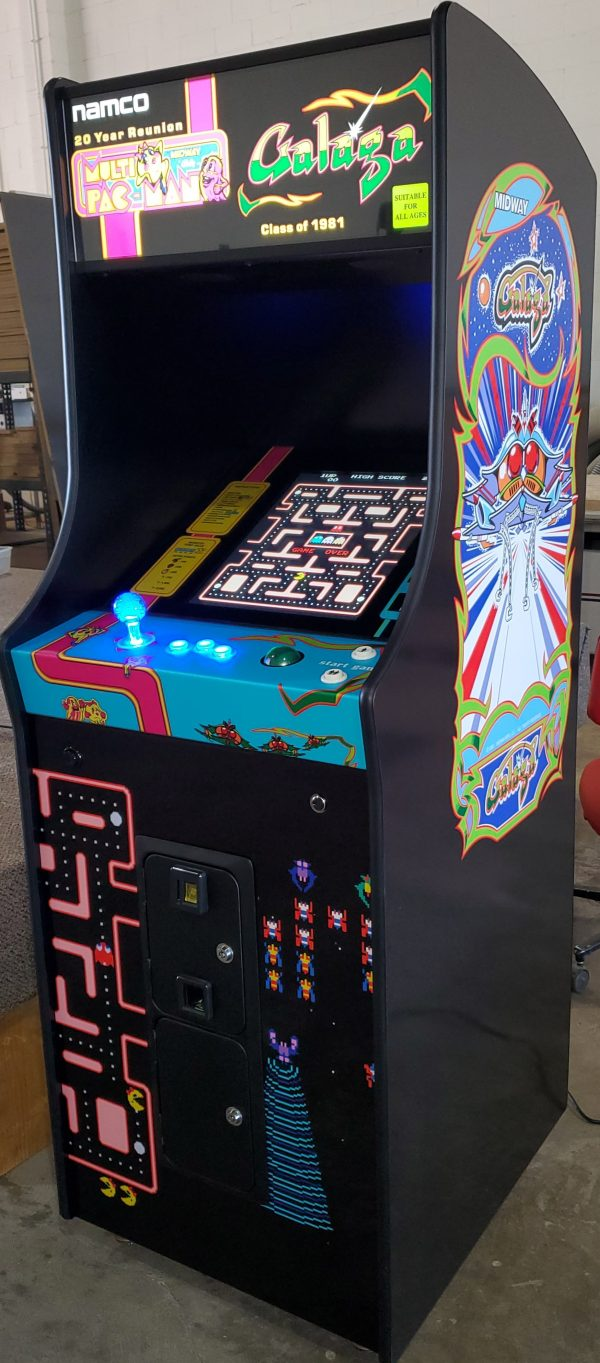 Upright single player multicade with Galaga wrap