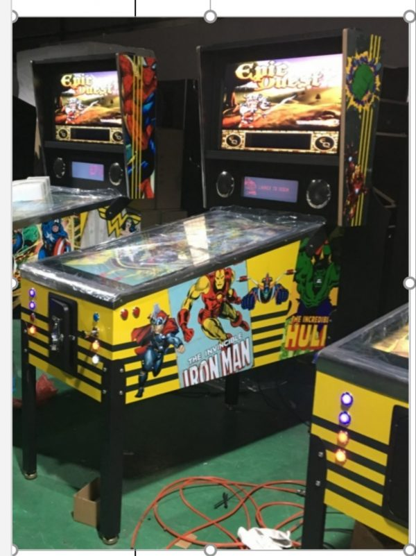 Marvel themed virtual pinball machine