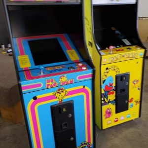 Upright single player multicades with pacman wraps