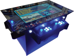 three sided cocktail arcade machine