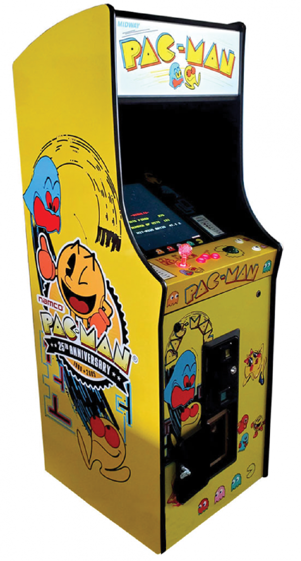 pacman upright arcade machine